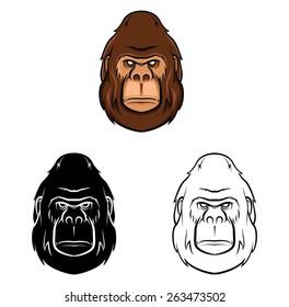 Coloring book Gorilla cartoon character