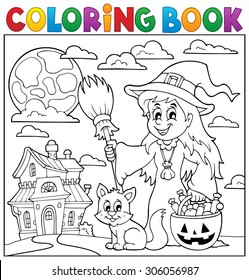 Coloring book Halloween thematics 1 - eps10 vector illustration.