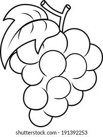 Grape Outline Images Stock Photos Vectors Shutterstock