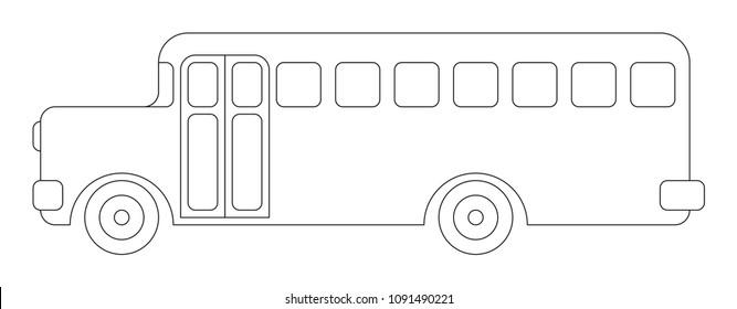 Coloring Page School Bus Stock Vectors Images Vector Art