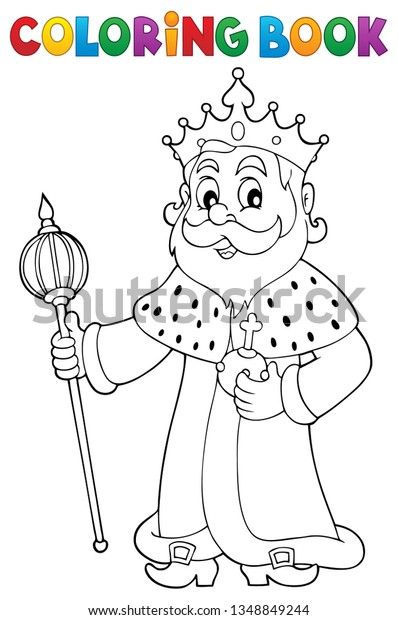 Coloring book king topic 1 - eps10 vector illustration.