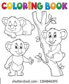 Coloring book koala theme 1 - eps10 vector illustration.