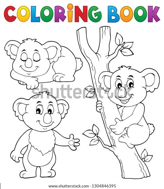 Coloring book koala theme 1 - eps10 vector illustration.