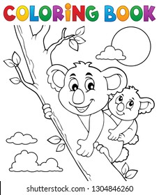 Coloring book koala theme 2 - eps10 vector illustration.