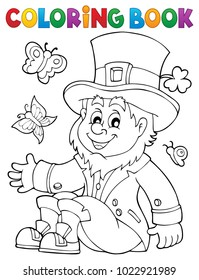 Coloring book leprechaun 3 - eps10 vector illustration.