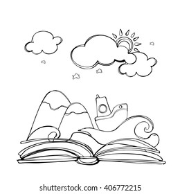Open Book Drawing Images, Stock Photos & Vectors | Shutterstock