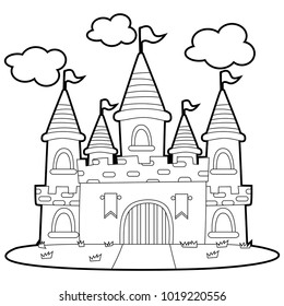 Snow white coming in the dwarfs' house coloring pages - Hellokids.com | 280x260