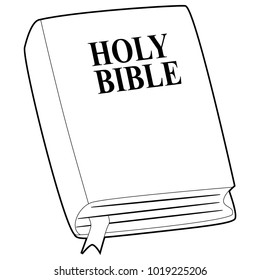 Coloring Book Outlined of Holy Bible