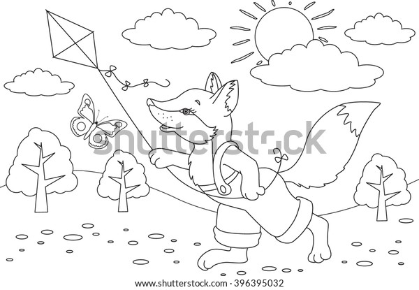 coloring book page animals cartoon 600w