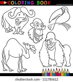 Coloring Book Safari Images, Stock Photos & Vectors | Shutterstock