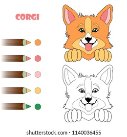 Corgi Painting Stock Vectors Images Vector Art Shutterstock