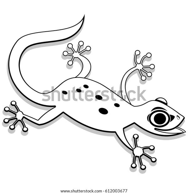 Leopard Gecko coloring page | SuperColoring.com | Cartoon lizard ... | 620x600