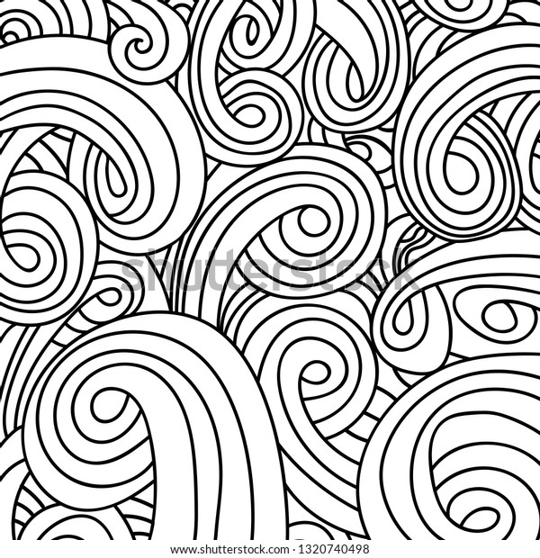 Coloring Pages For Adults Coloring Book.Seamless Black And White ... | 620x600