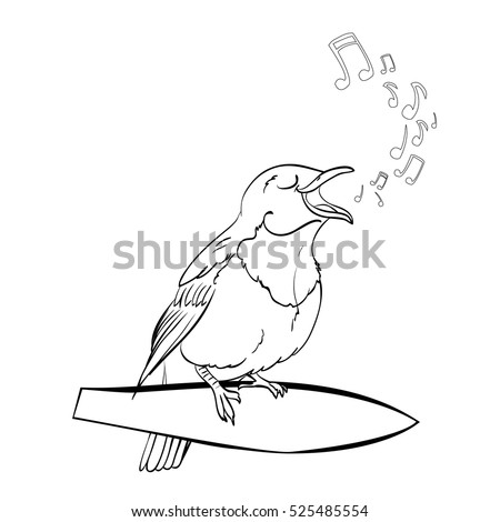 Coloring Book Page Cute Cartoon Vector Stock Royalty Free 525485554