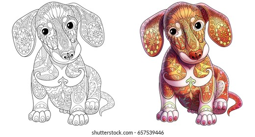 Adult Colouring Pages Dog Hd Stock Images Shutterstock