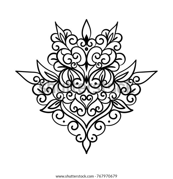 Coloring Book Page Design Ornate Element | The Arts ...