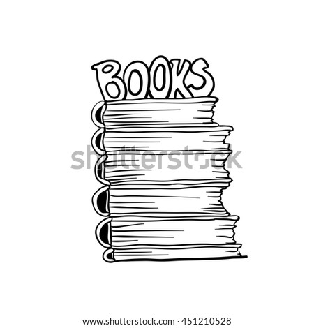 Coloring Book Page Design Stack Books Stock Vector (Royalty ...