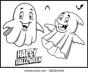Ghost Coloring Images Stock Photos Vectors Shutterstock