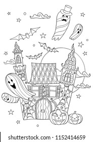 Halloween Colouring Pages Images Stock Photos Vectors