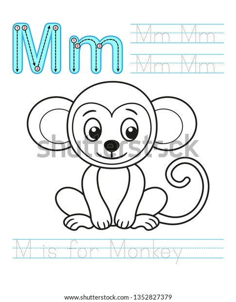 - Coloring Book Page Printable Worksheet Kindergarten Stock Vector (Royalty  Free) 1352827379