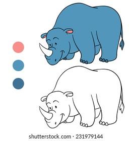 Coloring book (rhino)