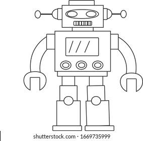Coloring book robot home helper