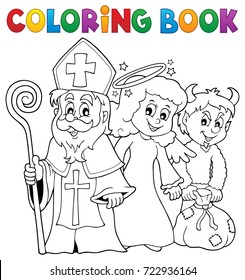 Coloring book Saint Nicholas Day theme 1 - eps10 vector illustration.