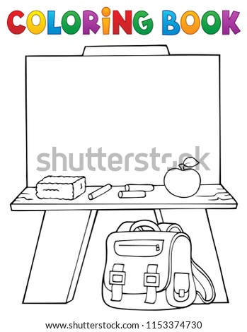 Coloring book schoolboard topic- eps10 vector illustration.