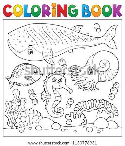 Coloring book sea life theme 2 - eps10 vector illustration.