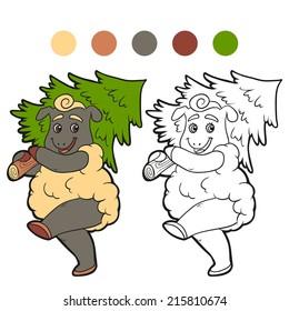 Coloring book (sheep)