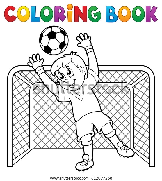 Coloring book soccer theme 2 - eps10 vector illustration.