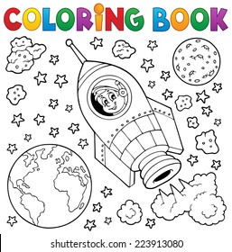 Coloring book space theme 1 - eps10 vector illustration.