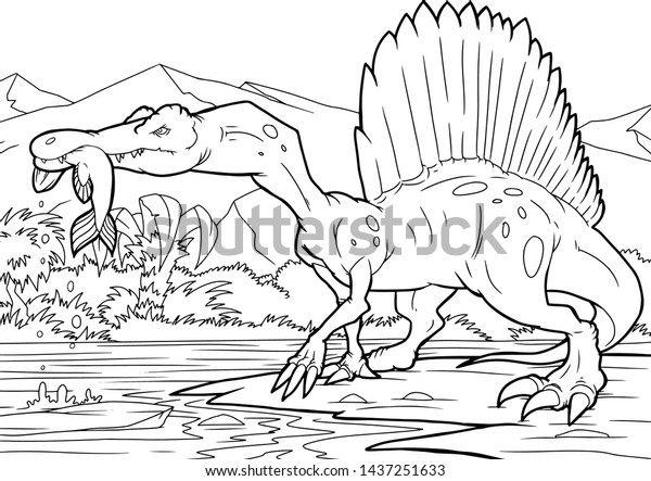 Jurassic Park Jeep Coloring Page - ColoringBay | 443x600