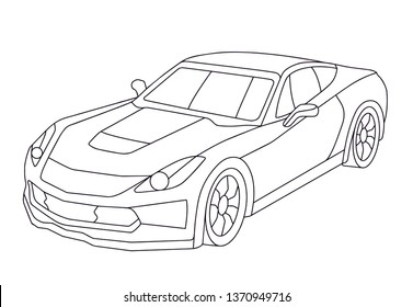 Cars Coloring Book Images Stock Photos Vectors Shutterstock