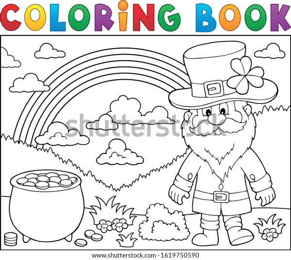 Coloring book St Patricks Day theme 3 - eps10 vector illustration.