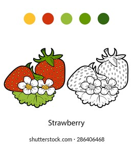 Coloring book (strawberry)