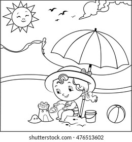 Beach Coloring Book Images, Stock Photos & Vectors ...