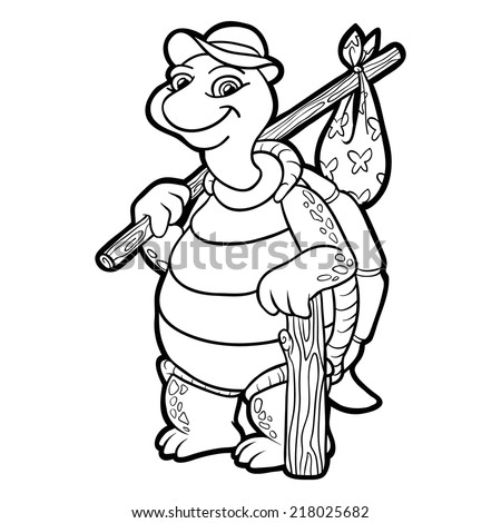 Coloring Book Turtle Stock Vector (Royalty Free) 218025682 ...
