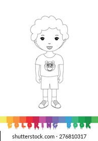 Coloring book - vector illustration.
