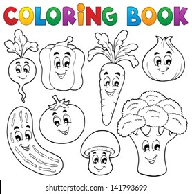 Royalty-Free Vegetables Coloring Book Stock Images, Photos ...
