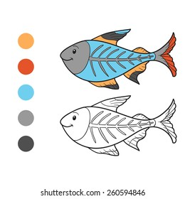 Coloring book (x-ray fish)