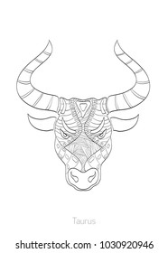 Coloring books, Zodiac signs, vector illustrations