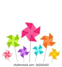 Coloring cartoon pinwheel, vector EPS10.