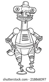 Coloring cartoon robot