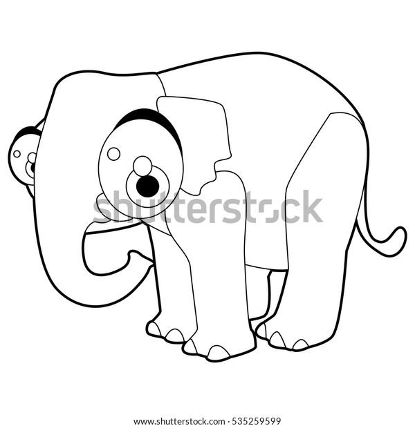 Coloring Cute Cartoon Animals Collection Cool Stock Vector ...
