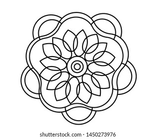 the coloring of the flower. Vector graphics