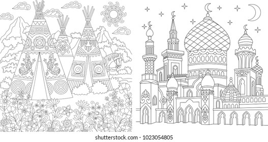 Islamic Coloring Pages Images Stock Photos Vectors Shutterstock
