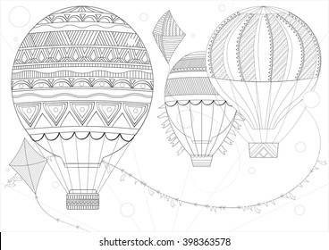 Vintage Hot Air Balloon Images Stock Photos Vectors Shutterstock