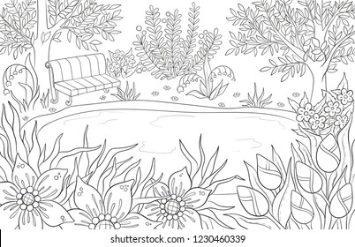 Lake Coloring Pages Images Stock Photos Vectors Shutterstock