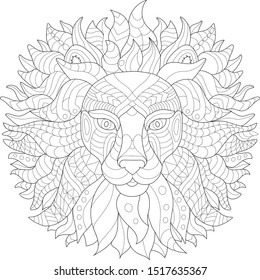 Coloring Pages Wild Animals High Res Stock Images Shutterstock